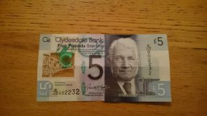 スコットランドのプラスチック(ポリマー)紙幣